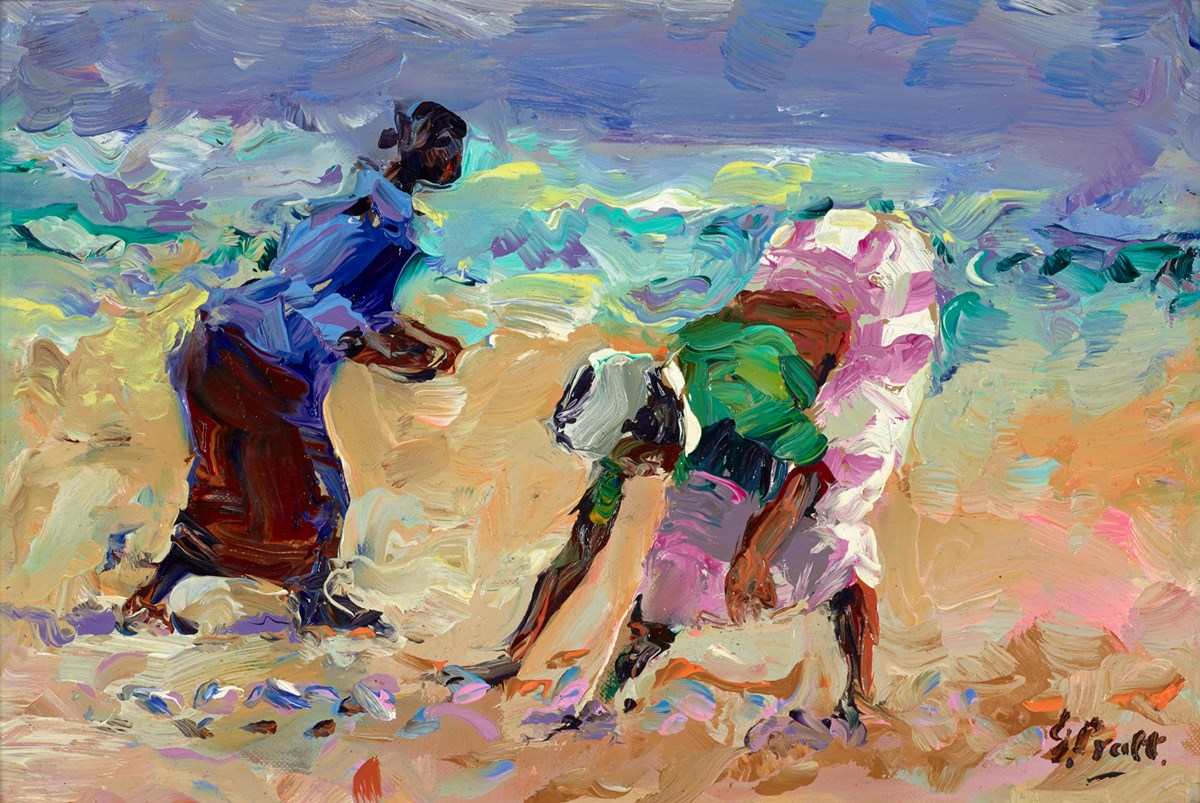 Fishing Women, Kerala, India by jeffrey pratt -  sized 12x8 inches. Available from Whitewall Galleries